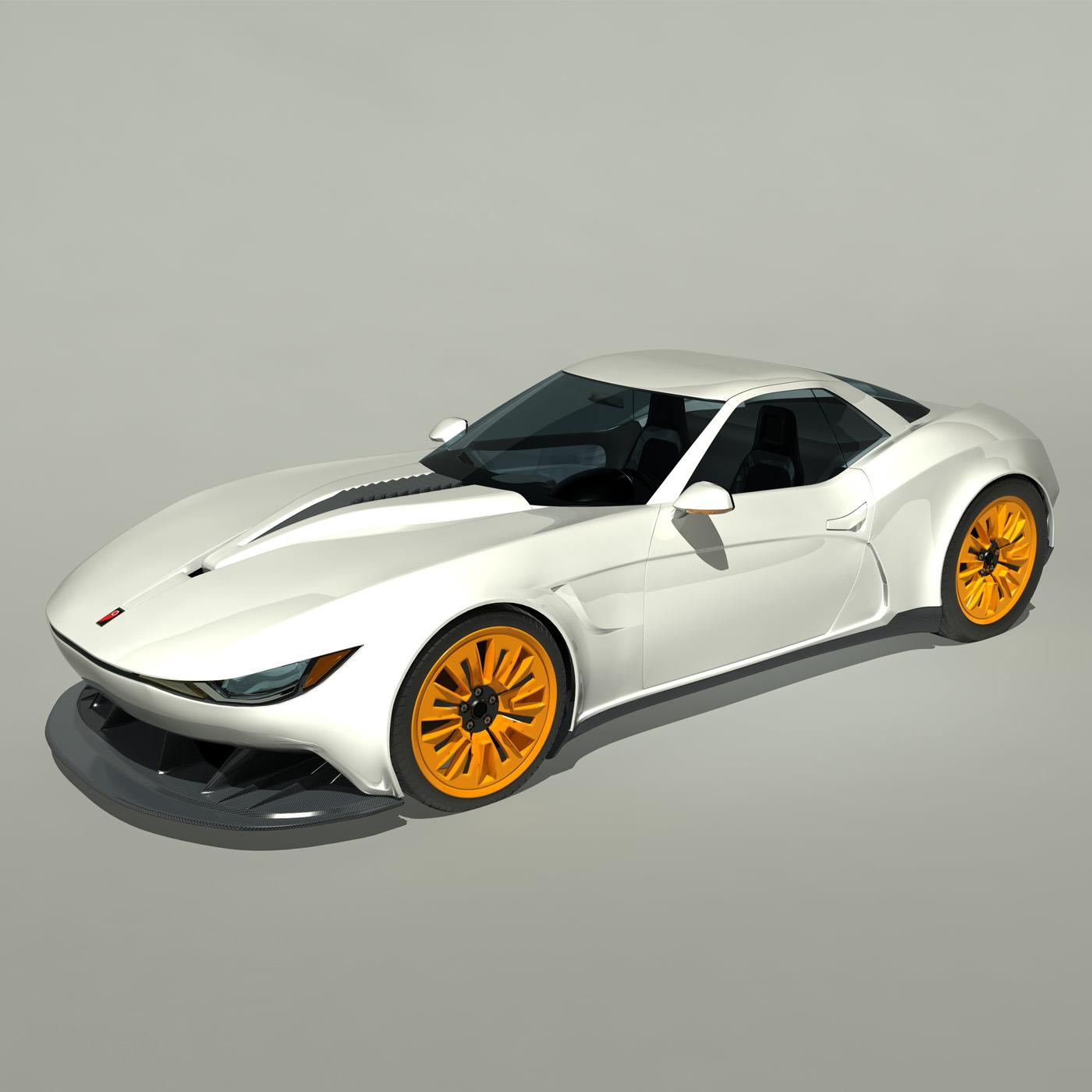 2013 Kukhri GT Concept Sports Car 3D Model MAX