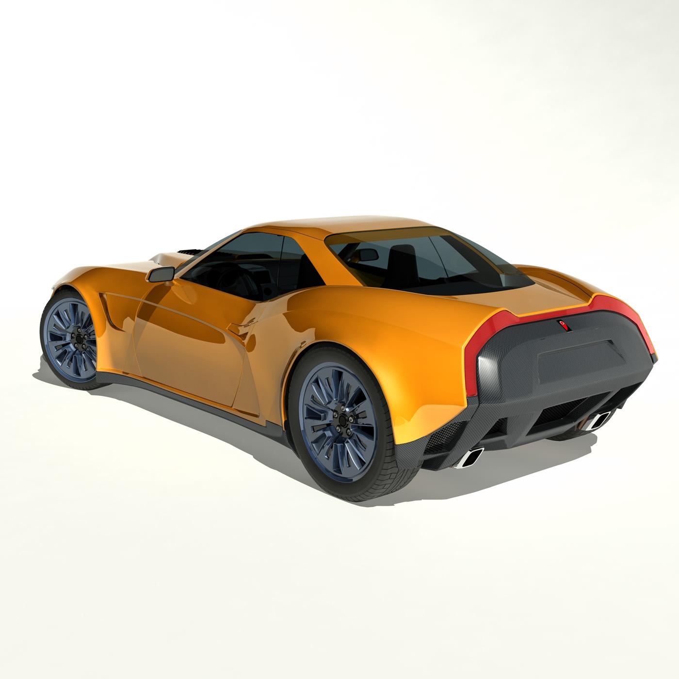 Sedan Sport Cars: 2013 Kukhri GT Concept Sports Car 3D Model MAX OBJ FBX