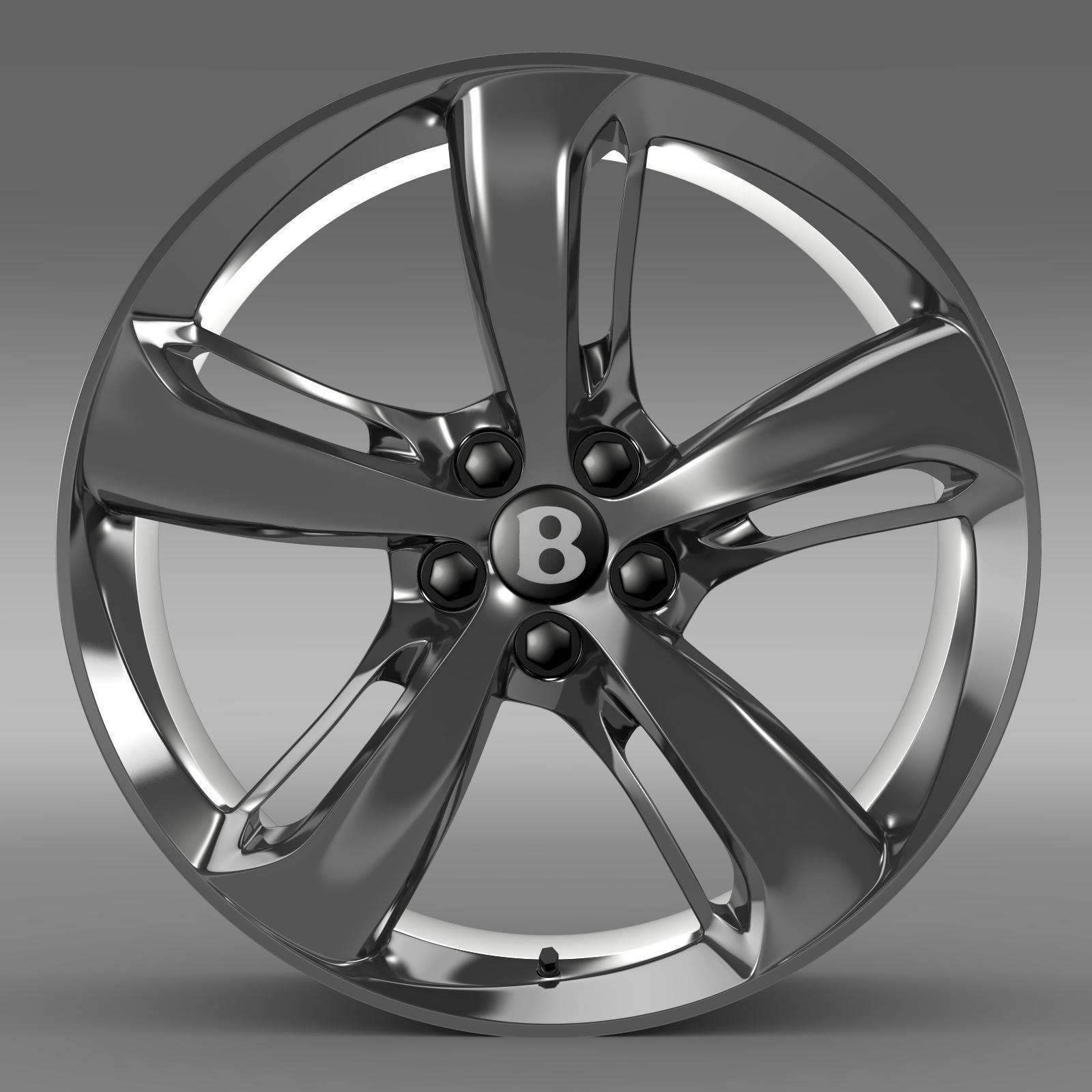Bentley Continental Gt 2015: Bentley Continental GT Speed 2015 Rim 3D Model MAX OBJ 3DS