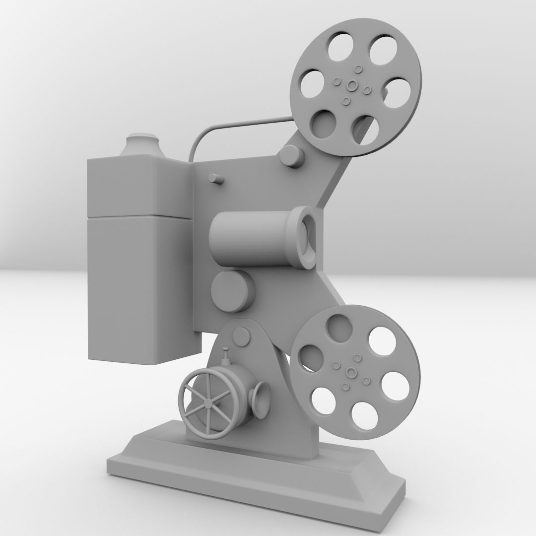 Film Projector 3d Cgtrader