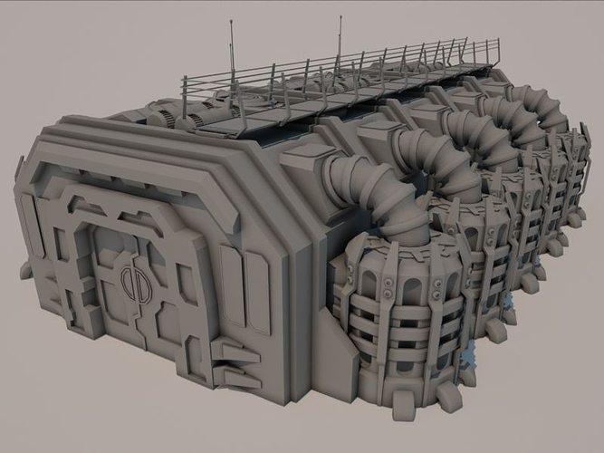 Sci Fi Building 1501 3d Asset Cgtrader