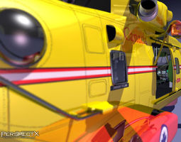 AW320 Helicopter EH101 3D Model
