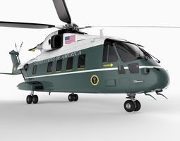 Marine One US101 Helicopter 3D Model