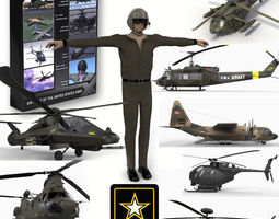 Air Might of the United States Army 3D Model