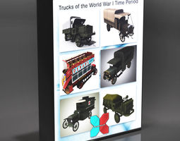 Trucks of the World War I Time Period 3D Model