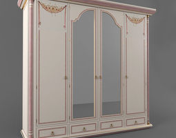 The classic wardrobe 3D asset