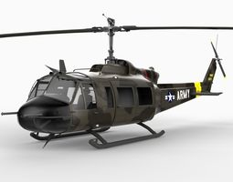 UH1B Helicopter 3D Model