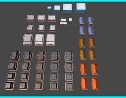 3D asset Toon Textured Buildings Pack
