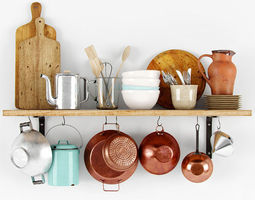 3d model shelf with bakeware