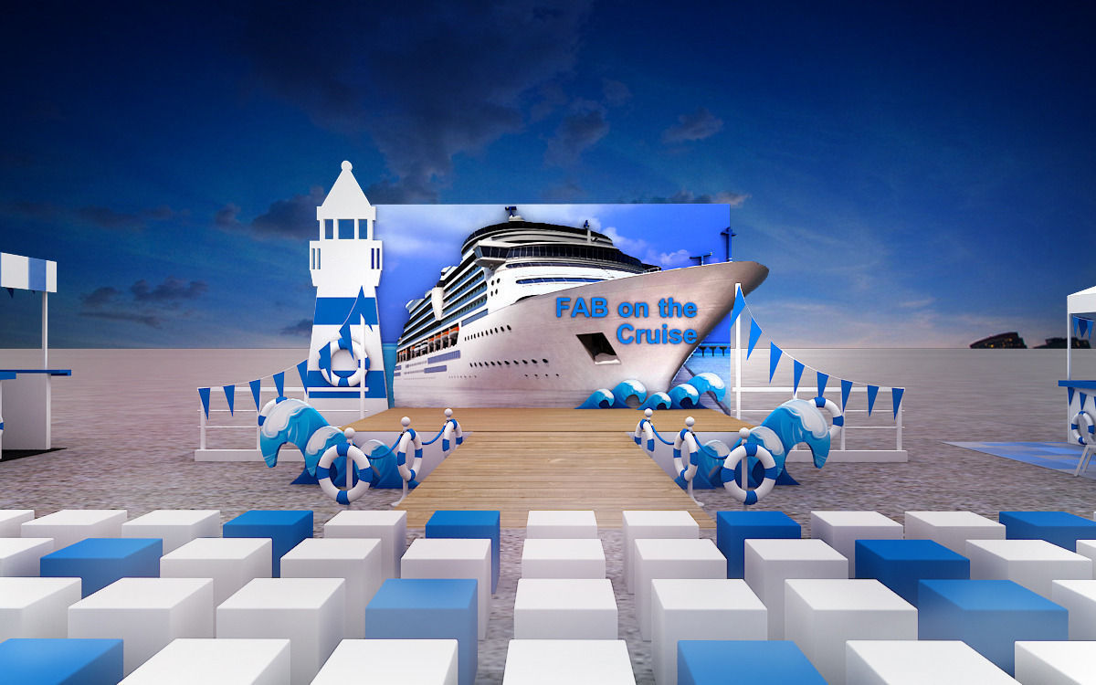 Cruise Event Stage Design 3D Model MAX 3DS CGTrader