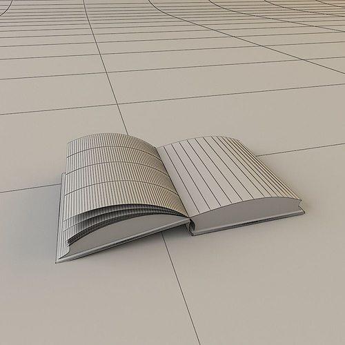 Open Book 3D Model MAX OBJ MAT | CGTrader.com