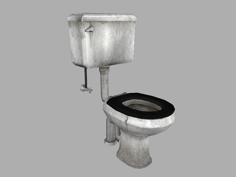 3d model grimy toilet cgtrader