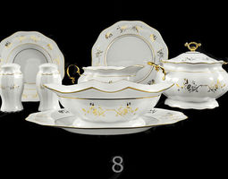 3D model plate Tableware