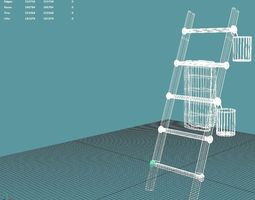 3d model ladder towel rack