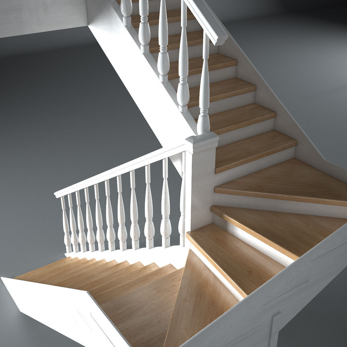 wooden stairs 3d model max obj mtl 3ds fbx 2 - Wooden Stairs