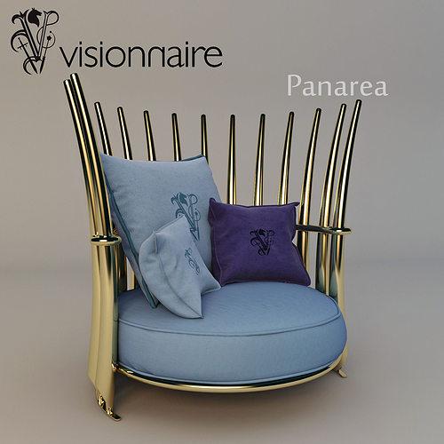 visionnaire panarea armchair 3d model max obj mtl fbx 1
