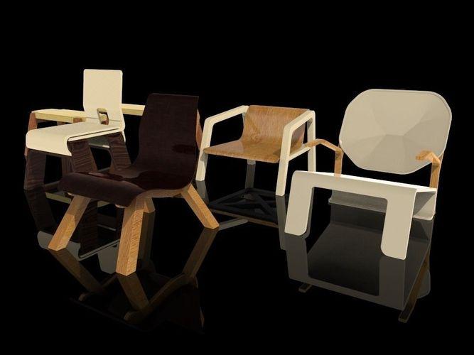 Wooden Furniture V1 3d Cgtrader