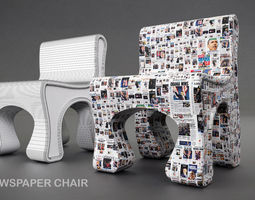 obama news chair 3d model