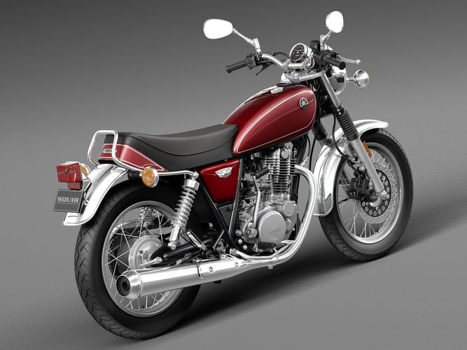 Yamaha sr400 2015 3d model max obj 3ds fbx c4d lwo lw lws for 2015 yamaha motorcycle models