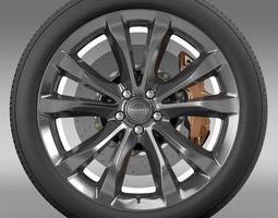 chrysler 300c platinum 2015 wheel 3d