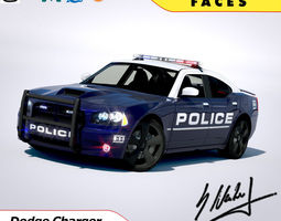 Dodge Charger SRT8 2006 Police - normal - carrig 3D Model