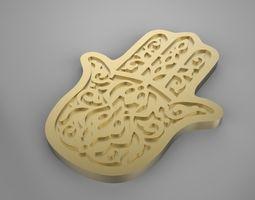 Fatima-hamsa muslim necklace 3D printable model