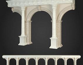 greek 3D model Arcade