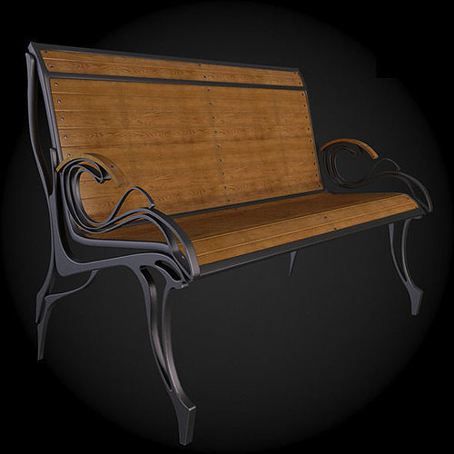 bench 3d model max obj mtl fbx 1