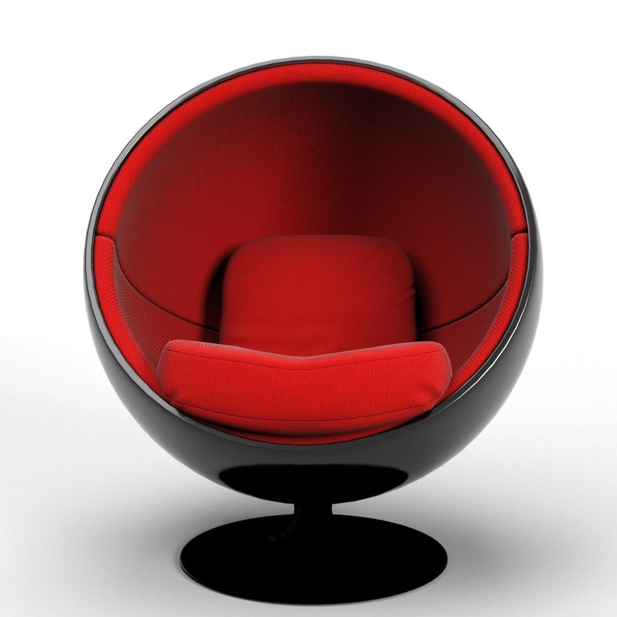 ball chair 3d model max obj fbx blend mtl 1