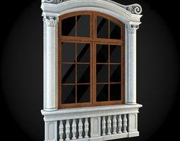 Window 3D model render