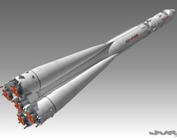 3d vostok 1 space rocket