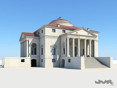 model villa capra - la rotonda 3d model max obj 3ds fbx mtl pdf 1