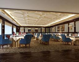 3d model hotel restaurant 20