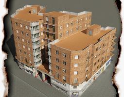 3D model low-poly Building