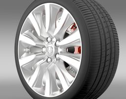 3d model honda legend hybrid wheel 2015