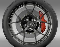 3D Honda NSX wheel 2015