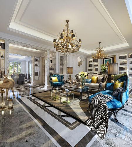 Realistic living room design 001 3d model max for Realistic living room ideas