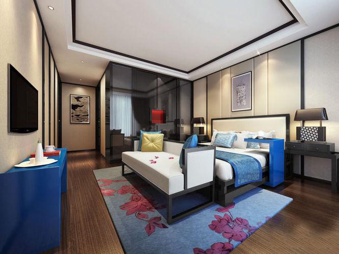 Realistic Hotel Room Design 012 3d Model Cgtrader