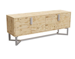 3D asset Plywood commode