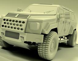 3d model gurkha armoured vehicle