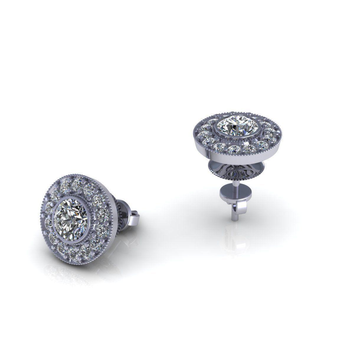 diamond earrings model - photo #12