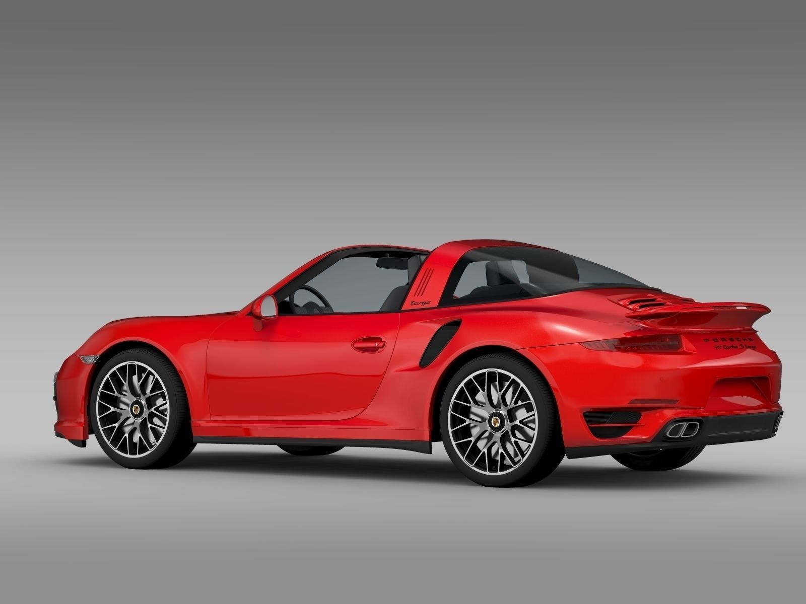 porsche 911 turbo s targa 991 2015 3d model max obj 3ds fbx c4d lwo lw