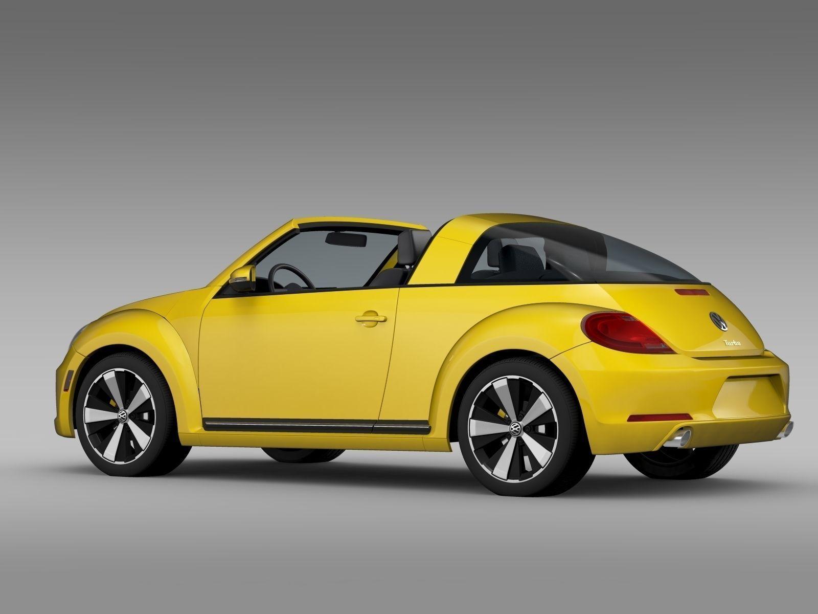VW Beetle Targa 2016 3D model