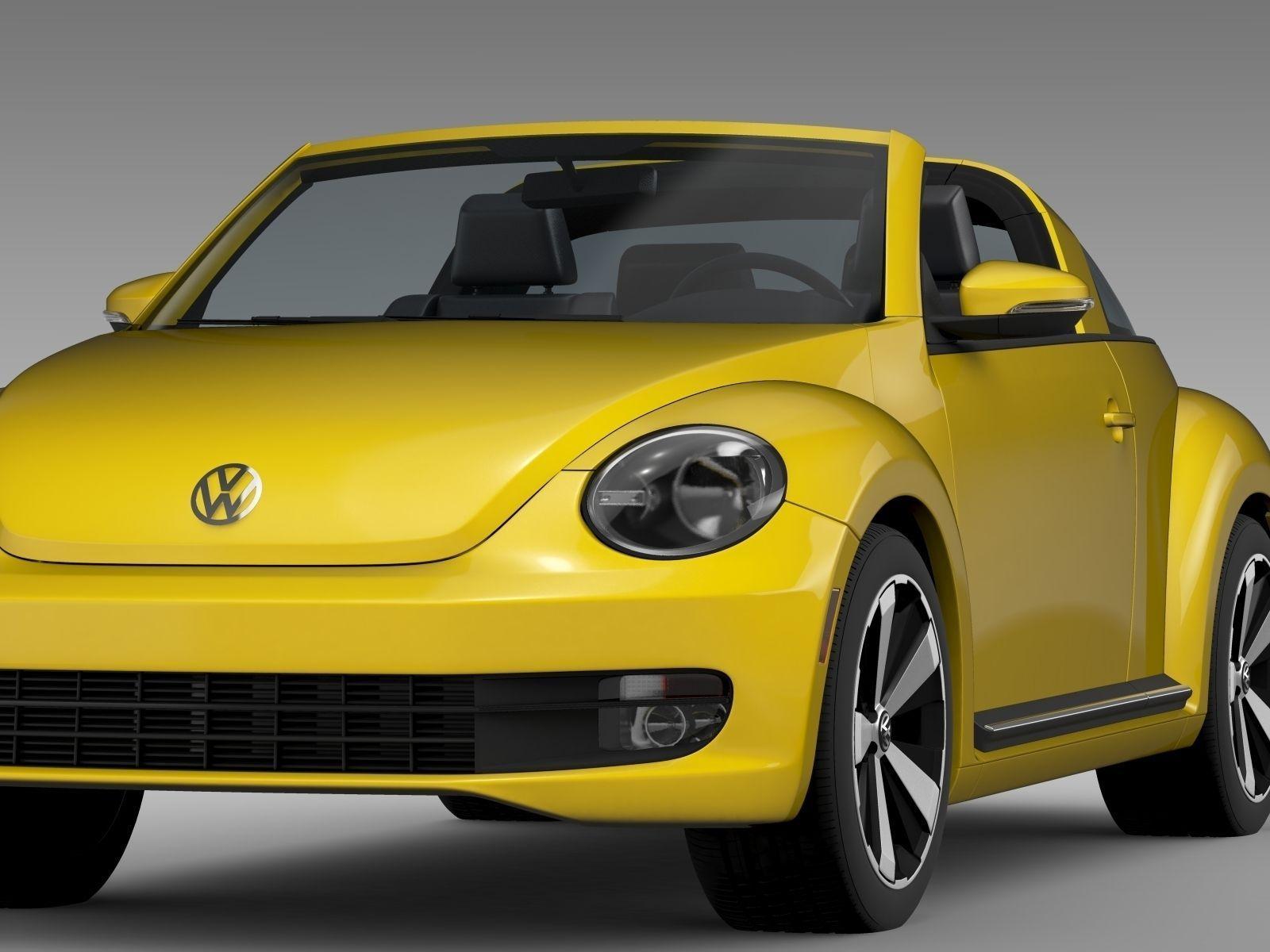 vw beetle targa 2016 3d model max obj 3ds fbx c4d lwo lw. Black Bedroom Furniture Sets. Home Design Ideas