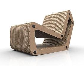 3D model Cardboard Lounge chair