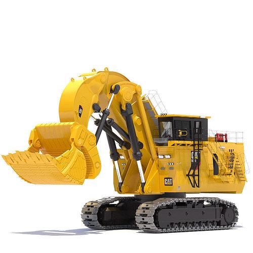 mining excavator 6090 fs 3d model max obj fbx lwo lw lws mtl 1