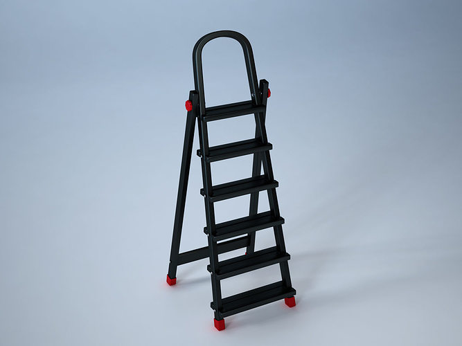 ladder 3d model obj fbx ma mb mtl 1