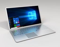 3d model metallic laptop