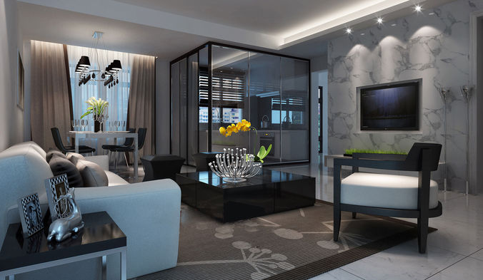 Realistic Hotel Room Design 041 3d Cgtrader