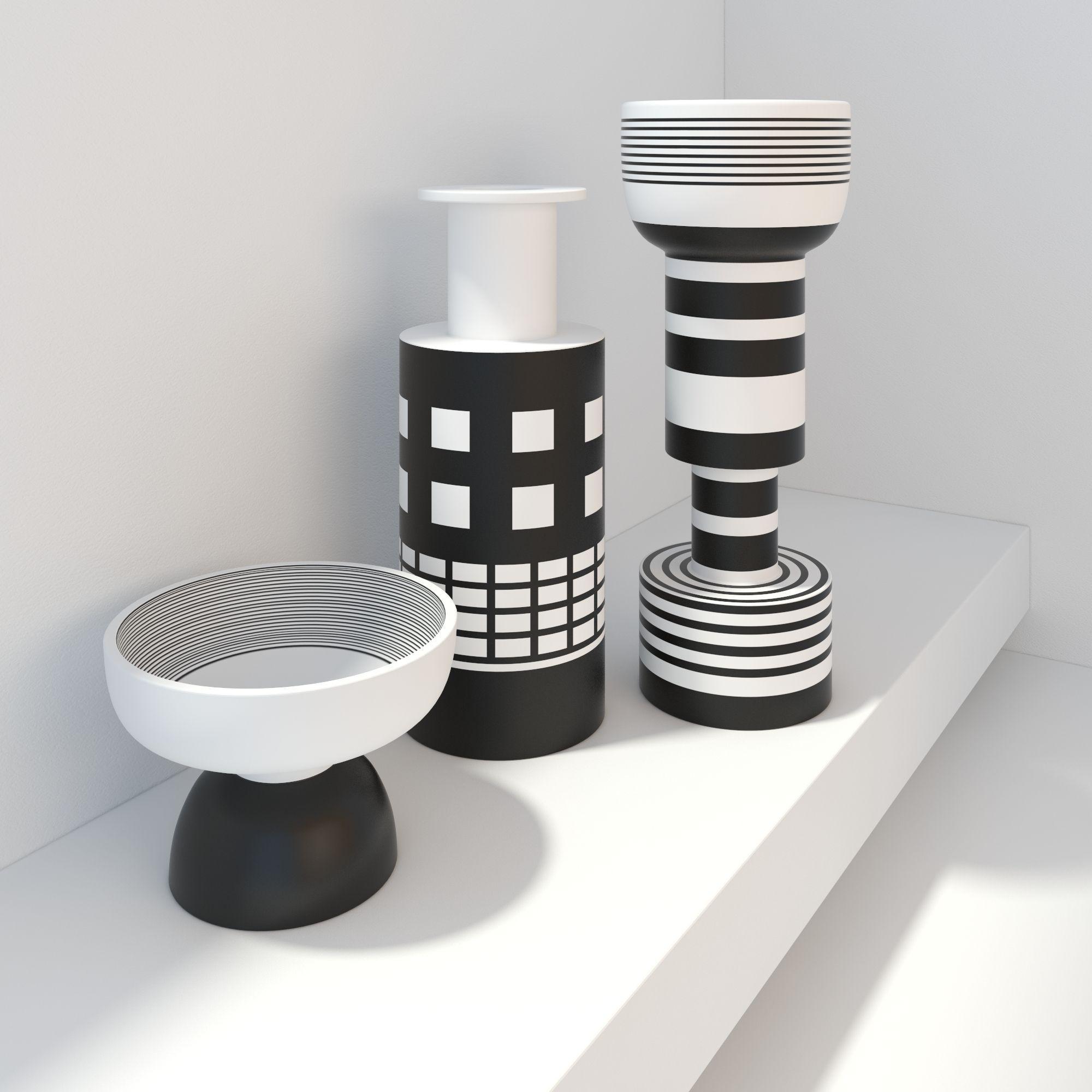 Popular 281 list modern vases decor bitossi modern vases black and white decor d model max obj fbx mtl reviewsmspy